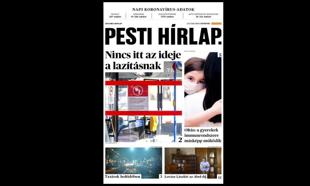 Az oltásokon múlik a nyitás; ritkán állítják meg az éjszakai taxikat – Megjelent a Pesti Hírlap