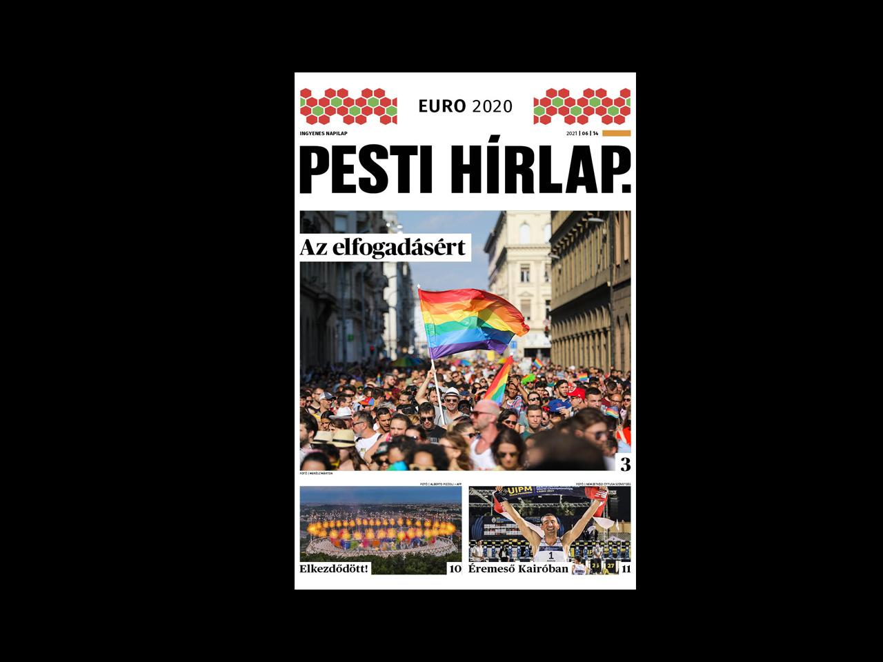 A melegellenes módosítások ellen tüntetnek; elkezdődött az Európa-bajnokság – Megjelent a Pesti Hírlap