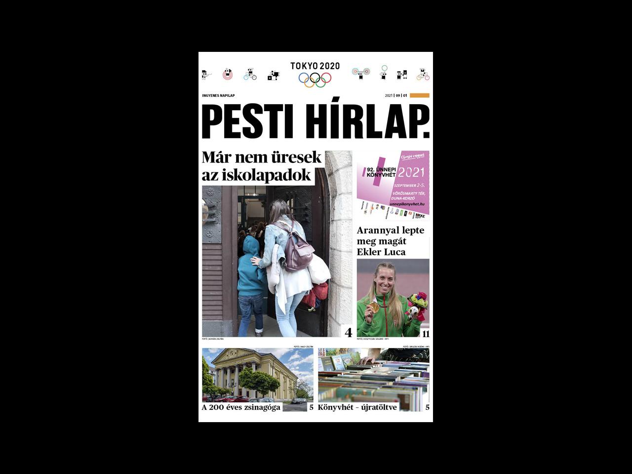 Megkezdődött a tanév a közoktatásban; 200 éves az Óbudai Zsinagóga – megjelent a Pesti Hírlap