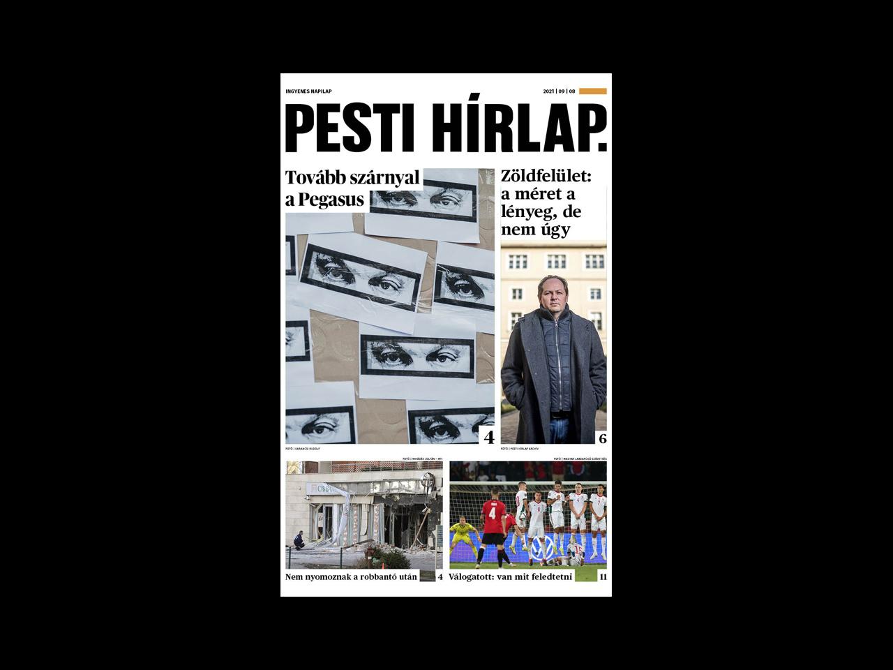 Folytatódik a Pegazus-botrány; megmenekülhet a Szigetcsúcs – megjelent a Pesti Hírlap
