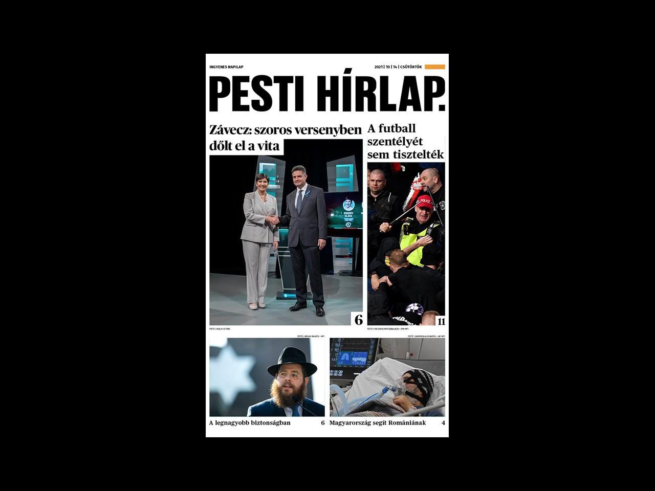 Éles volt a miniszterelnök-jelölti vita; menekülthullámmal zsarolnak a tálibok – megjelent a Pesti Hírlap
